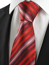 Cravatta-A strisceDIPoliestere-Rosso