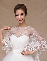 Wedding / Party/Evening Lace / Tulle Ponchos Sleeveless Wedding  Wraps