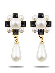 Casual Alloy / Imitation Pearl Drop Earrings