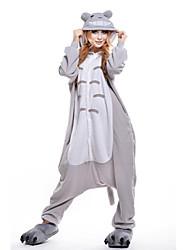 Kigurumi Pijamas nueva Cosplay® Gato Totoro Leotardo/Pijama Mono Festival/Celebración Ropa de Noche de los Animales Halloween Gris Retazos
