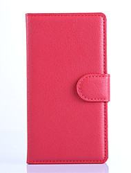 For Nokia Case Wallet / Card Holder / with Stand Case Full Body Case Solid Color Hard PU Leather NokiaNokia Lumia 1520 / Nokia Lumia 1320