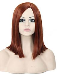 perucas popular! requintado comprimento médio peruca sintética marrom reta