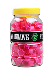 Dragonhawk® 1 Pack Medium Tattoo Ink Cups Caps Silicone Material Unique Design Tattooing Supplies Red Color