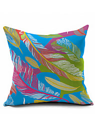 2016 New Arrival Peacock Feather Cotton/Linen Pillow Cover , Nature Modern/Contemporary  Pillow Linen Cushion