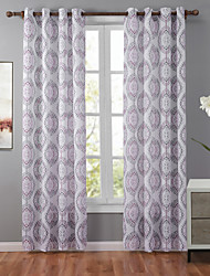 One Panel Designer Geometic Multi-color Bedroom Polyester Panel Curtains Drapes 52 inch Per Panel