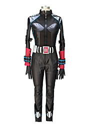 Cosplay Costumes Super Heroes Movie Cosplay Black Patchwork Leotard/Onesie / Gloves / Belt / More Accessories / KneepadHalloween /