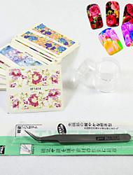 Панк-3D наклейки на ногти / Стразы для ногтей-Пальцы рук-70mm*65mm-1set-ПВХ