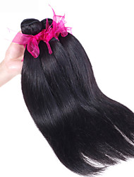 """3pcs / lot de alta qualidade extensões brasileiras virgens do cabelo natural preto tecer cabelo reto 8 """"-26"""" venda quente."""