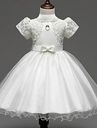 Girl's Gold / Pink / White Dress / Skirt,Print Polyester Summer / Spring / Fall