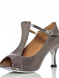 Women's Latin Ballroom Dance Shoes Jazz / Swing Shoes / Salsa / Samba Customized Heel Black / Red / Gray