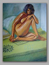 люди масляной живописи Обнаженная женщина ручная роспись
