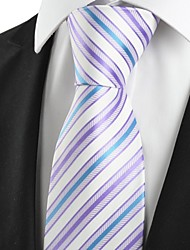 New Striped Blue Lavender Purple Mens Tie Necktie Wedding Party Groom Gift #1013
