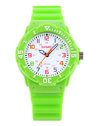 SKMEI® Kids' Casual Wristwatch Japanese Quartz Candy Color Strap Watch Cool Watches Unique Watches