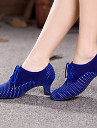 Women's Dance Shoes Belly / Latin / Dance Sneakers / Modern / Swing Shoes / Salsa / SambaVelvet / Sparkling Glitter /