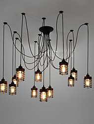 Vintage Edison Multiple Ajustable DIY Ceiling Lamp Light Pendant Lighting Chandelier Modern Chic Industrial Dining