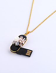 8GB Necklace Flower Jewelry USB 2.0 Rotatable Flash Memory Stick Drive U Disk ZP-08