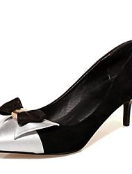 Zapatos de mujer-Tacón Stiletto-Tacones / Puntiagudos-Tacones-Oficina y Trabajo / Vestido / Fiesta y Noche-Semicuero-Negro