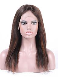 """""""26"""" peluca 8 brasileña virginal del pelo recto llena del cordón&encajes frente peluca multicolor opcional con el pelo del bebé para"""