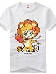 Inspirado por Fate/zero Saber Animé Disfraces de cosplay Cosplay de la camiseta Estampado Manga Corta T-Shirt