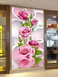 поделки 5d алмазов вышивки розовые розы волшебный кубик круглый картины крест комплекты стежка алмаз мозаики украшение дома