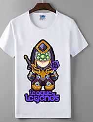 lol League of Legends blademaster coleção da série cosplay lycra de algodão t-shirt heróis união