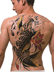 Temporary Tattoo (Full Back) - Koi(2PCS)