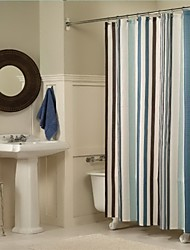 "Modern Stripe Shower Curtains W71""×L71"""
