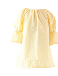 Girl's Dress,Cotton Spring / Fall Blue / Red / Yellow