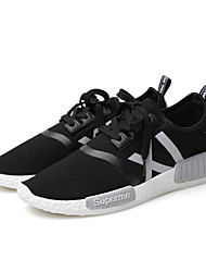 Men's Shoes Casual Canvas Fashion Sneakers Black / White / Gray