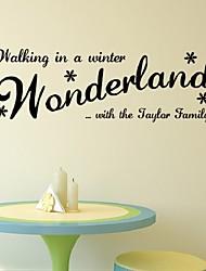 Diy Wonderland Pvc Removable Wall Stickers Kids Child Boy Kitchen Bathroom Room Home Decoration Poster Sticker