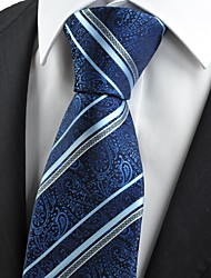 New Navy Dark Blue Paisley Striped Classic Exotic Men's Tie Necktie Gift KT0020