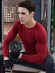 Course Hauts/Tops Homme Manches longues Respirable / Séchage rapide Spandex / Polyester Fitness Sportif Vêtements de sport Extensible