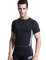 Men's Running Sports PRO Compression Clothing Soft Short Sleeves Quick Dry Workout clothes 6 Colors
