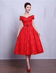 Коктейльное платье выпускного вечера - короткое a-line v-образное вырезное кружево с вышитыми бисером цветок (s)