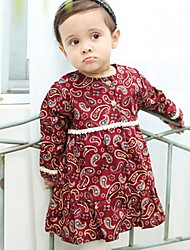Girl's Dress,Cotton Winter Red