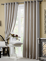 Two Panels Embossed Blockout  Leaf Two Color Curtain
