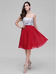 TS Couture® Cocktail Dress A-line Sweetheart Knee-length Chiffon / Sequined with Sequins