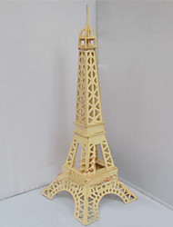 3D Puzzles Three-Dimensional Puzzles Educational Toys Wooden Simulation Mode Quad Eiffel Tower In Paris