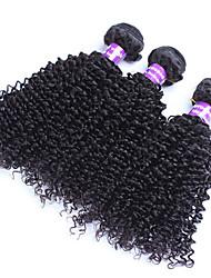 """3pcs / lot 10 """"-28"""" extensiones virginales del pelo humano de Malasia / de color de la armadura sexuales manojos de cabello natural negro"""