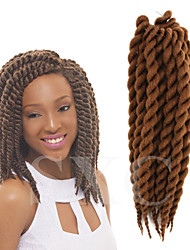 blue / brown / purple / #1B / Black / Dark Brown / Medium Brown / Strawberry Blonde Havana / Senegal / Box Braids / Crochet Twist Braids