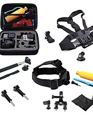 Gopro Accessories 17 in 1 Set Helmet Harness Chest Belt  Bike Mount Strap Monopod Case for hero 4 3+
