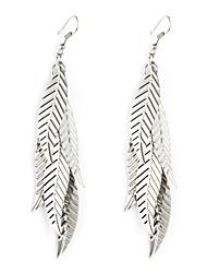 European Style Gold/Silver Leaf Earrings Jewelry for Women