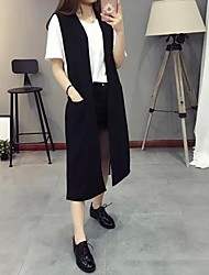 Women's Color Block Blue / Green / Orange / Yellow Blazer,Simple Notch Lapel Long Sleeve