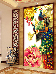 diy 5d pleine de diamants broderie mosaïque paon pivoine fleurs riches peinture rond kits point de croix décoration de la maison