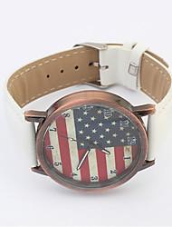 Женские Модные часы Кварцевый PU Группа Эйфелева башня Черный Белый Красный