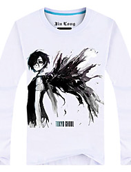 Inspired by Tokyo Ghoul Ken Kaneki Anime Cosplay Costumes Cosplay Tops/Bottoms Print White Long Sleeve Top