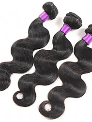 "3Pcs Brazilian Virgin Hair Body Wave 8-30"" Brazilian Body Wave Human Hair Weave Bundle"
