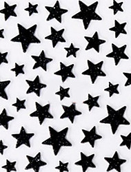 Lovely Black Western Style Star 3D Nail Stickers