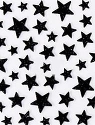 Gracioso Negro estilo ocidental Estrela 3d adesivos de unhas