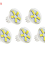 5pcs g4 15LED MR11 couleur blanc chaud / froid led projecteurs (12 V CC)